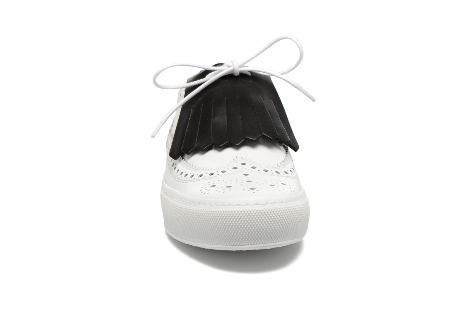 Lace-up shoes Clergerie Tolka02 White model view