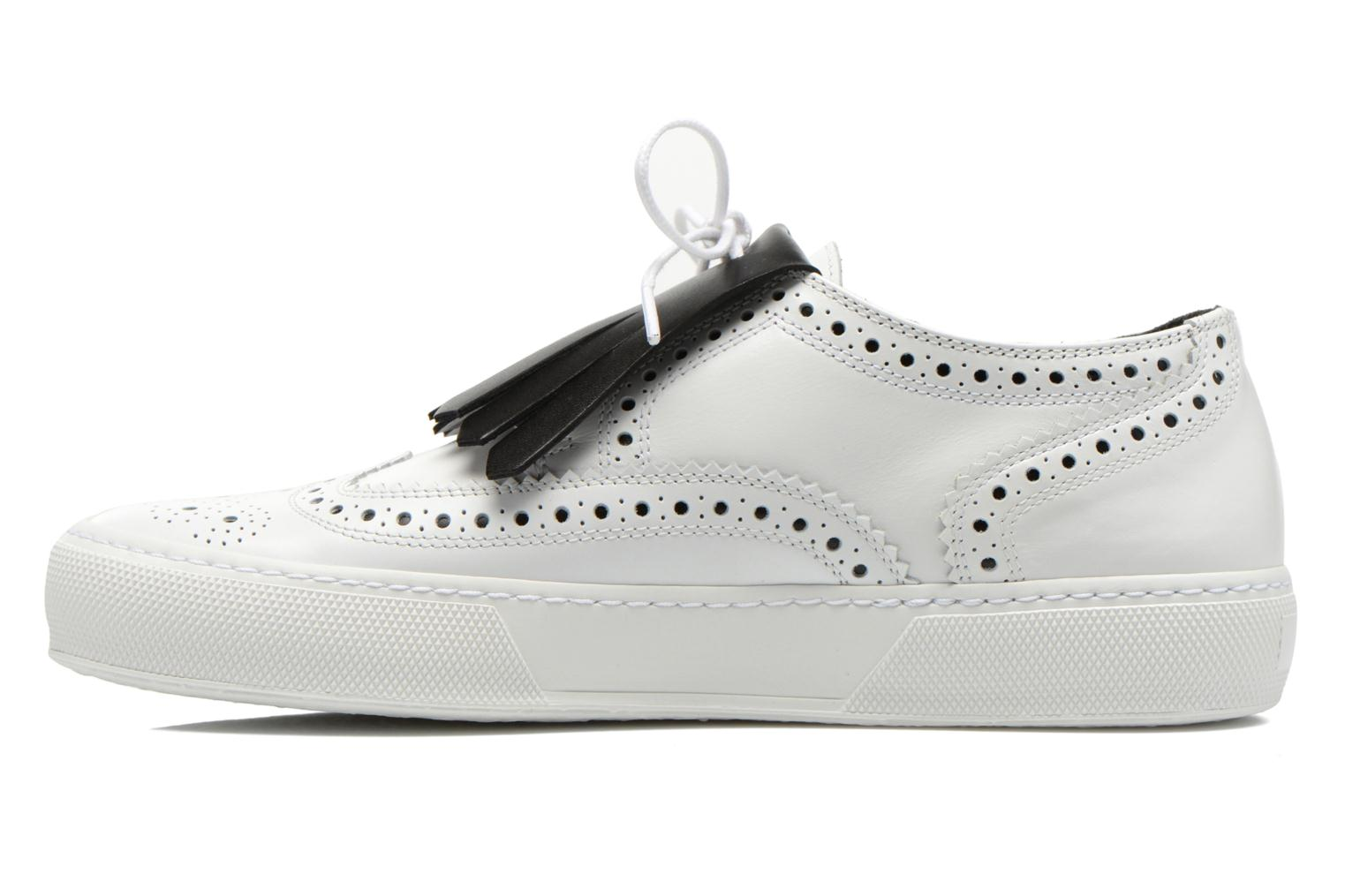 Lace-up shoes Clergerie Tolka02 White front view
