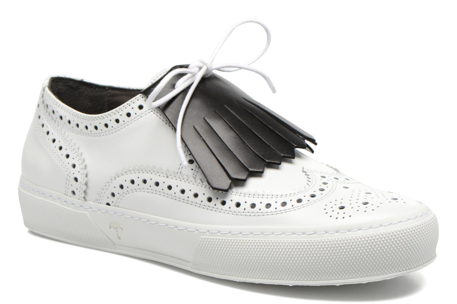 Lace-up shoes Clergerie Tolka02 White detailed view/ Pair view