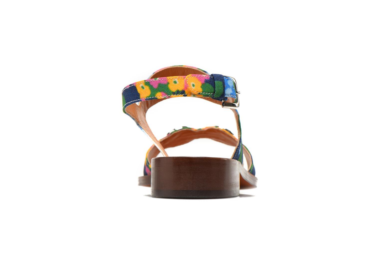 Sandales et nu-pieds Carven Iopta Multicolore vue droite