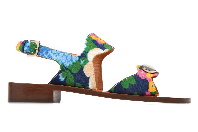 Sandales et nu-pieds Carven Iopta Multicolore vue derrière
