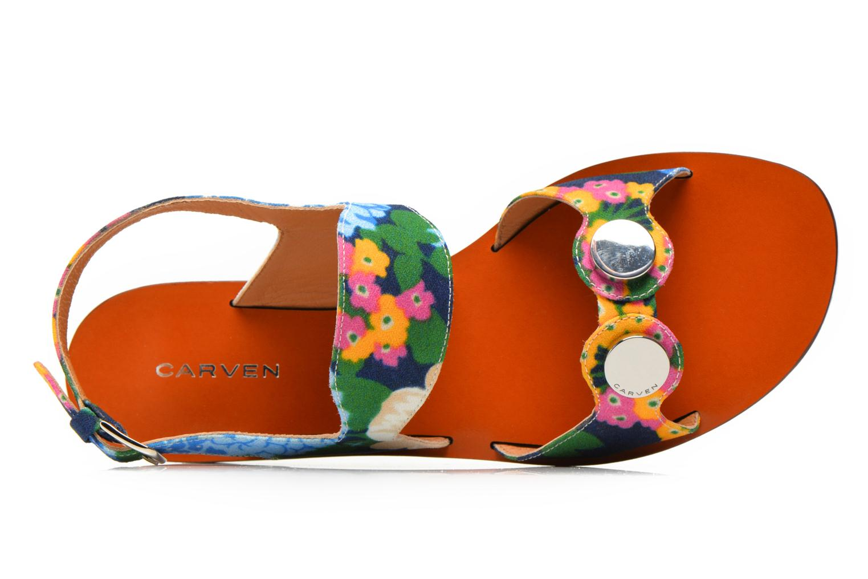 Sandales et nu-pieds Carven Iopta Multicolore vue gauche