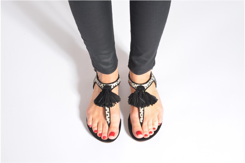 Sandales et nu-pieds SPM NANTES 2 Multicolore vue bas / vue portée sac