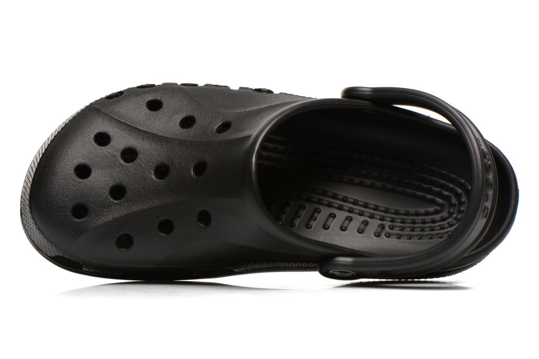 Zuecos Crocs Baya F Negro vista lateral izquierda