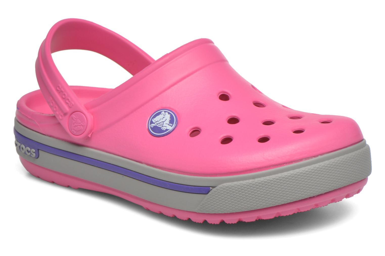 Sandales et nu-pieds Crocs Crocband II.5 Clog K Rose vue détail/paire