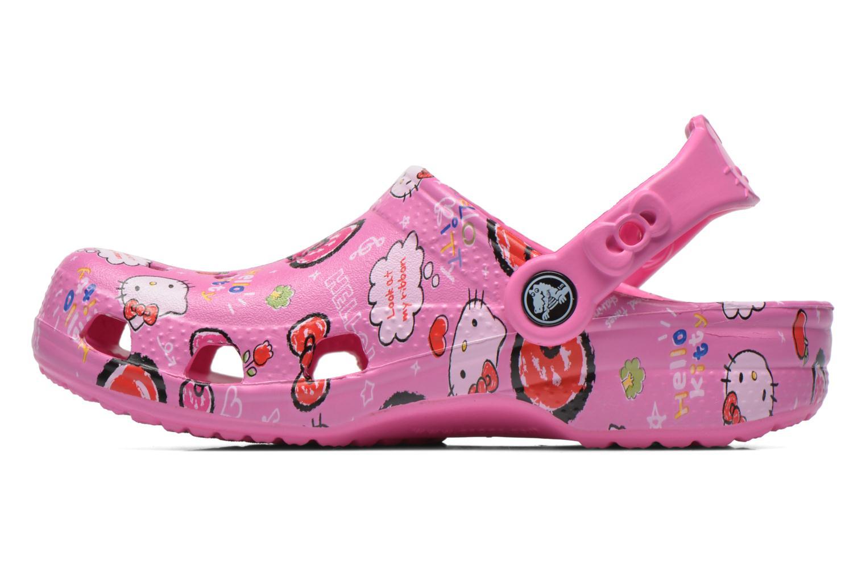 Sandali e scarpe aperte Crocs Hello Kitty Good Tim Rosa immagine frontale