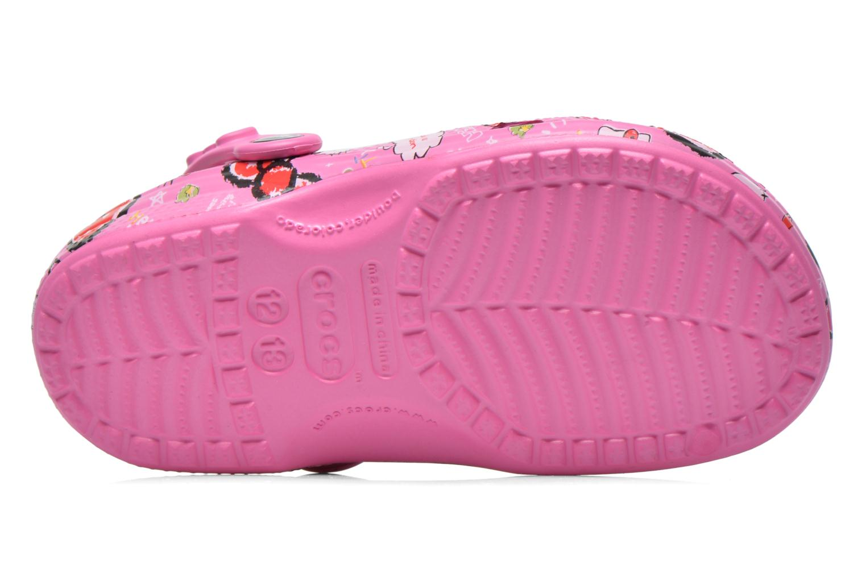 Sandali e scarpe aperte Crocs Hello Kitty Good Tim Rosa immagine dall'alto