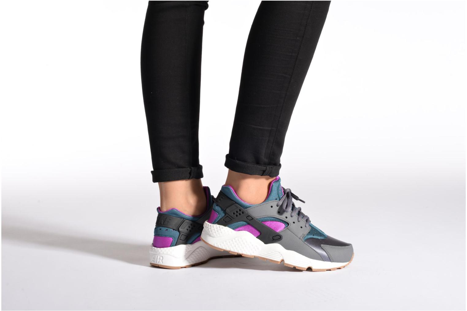 Wmns Air Huarache Run Pr Platinum/Brght Crmsn-Lyl Bl