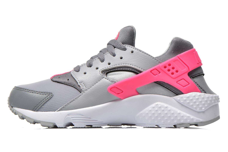 Nike Huarache Run (Gs) Wlf Grey/White-Cl Gry-Hypr Pnk