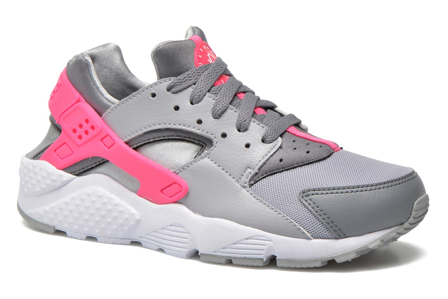 Nike Huarache Run (Gs) Wlf Grey/White-Cl Gry-Hypr Pnk