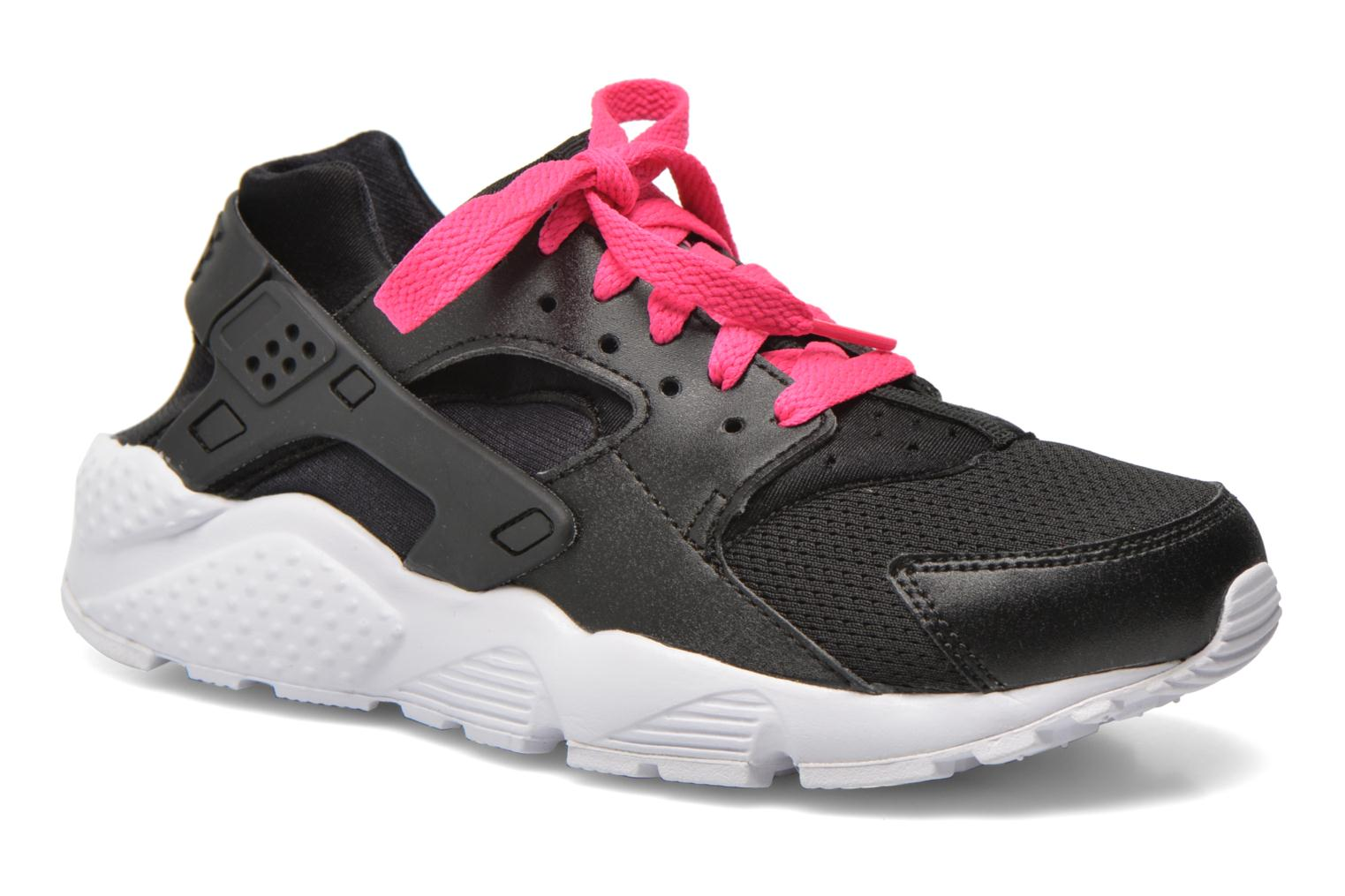 Nike Huarache Run (Gs) Black White-Pink Blast