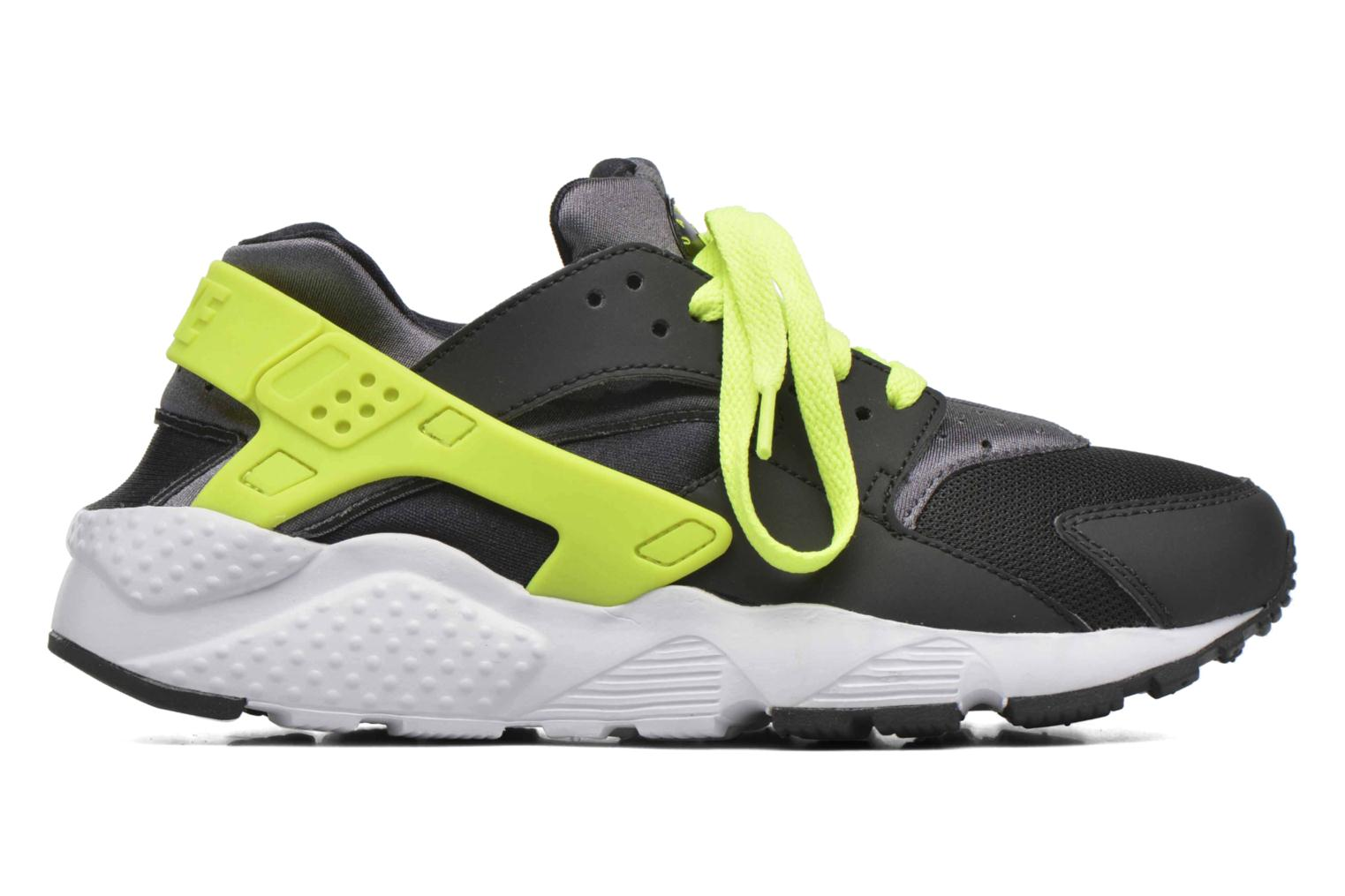Nike Huarache Run (Gs) Black/volt-dark grey-white