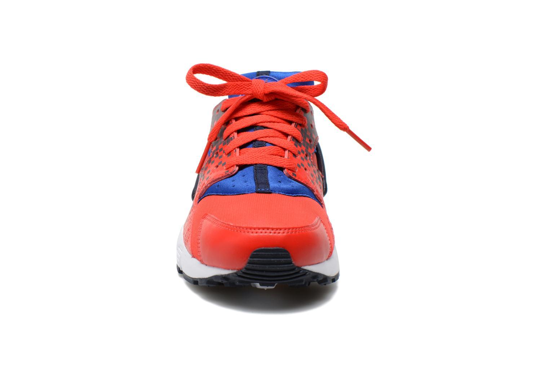 Baskets Nike Nike Huarache Run Print (Gs) Rouge vue portées chaussures