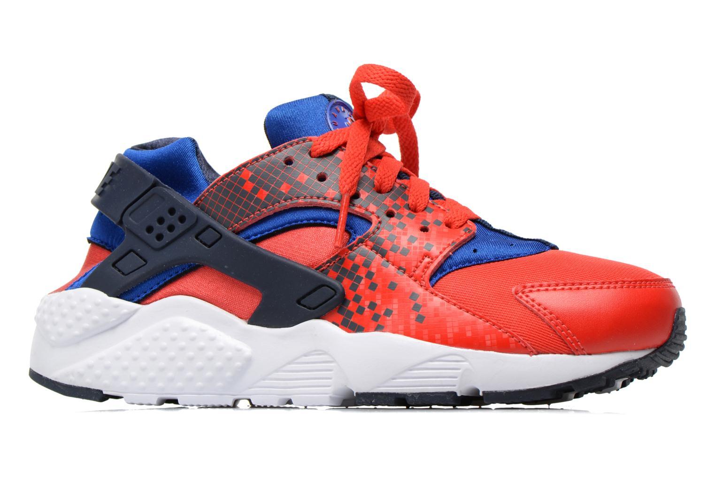 Sneakers Nike Nike Huarache Run Print (Gs) Röd bild från baksidan