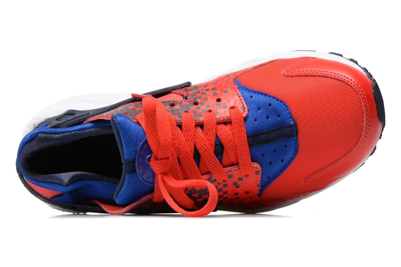 Sneakers Nike Nike Huarache Run Print (Gs) Röd bild från vänster sidan