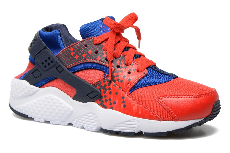 Sneakers Nike Nike Huarache Run Print (Gs) Röd detaljerad bild på paret
