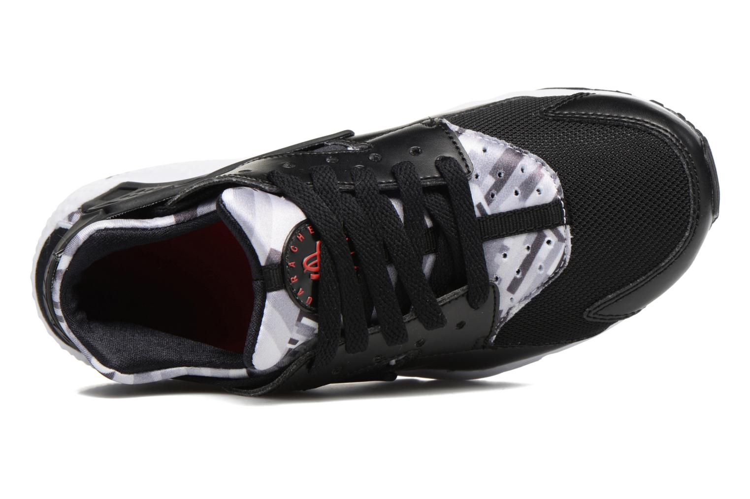 Nike Huarache Run Print (Gs) Black/Gym Red-Black
