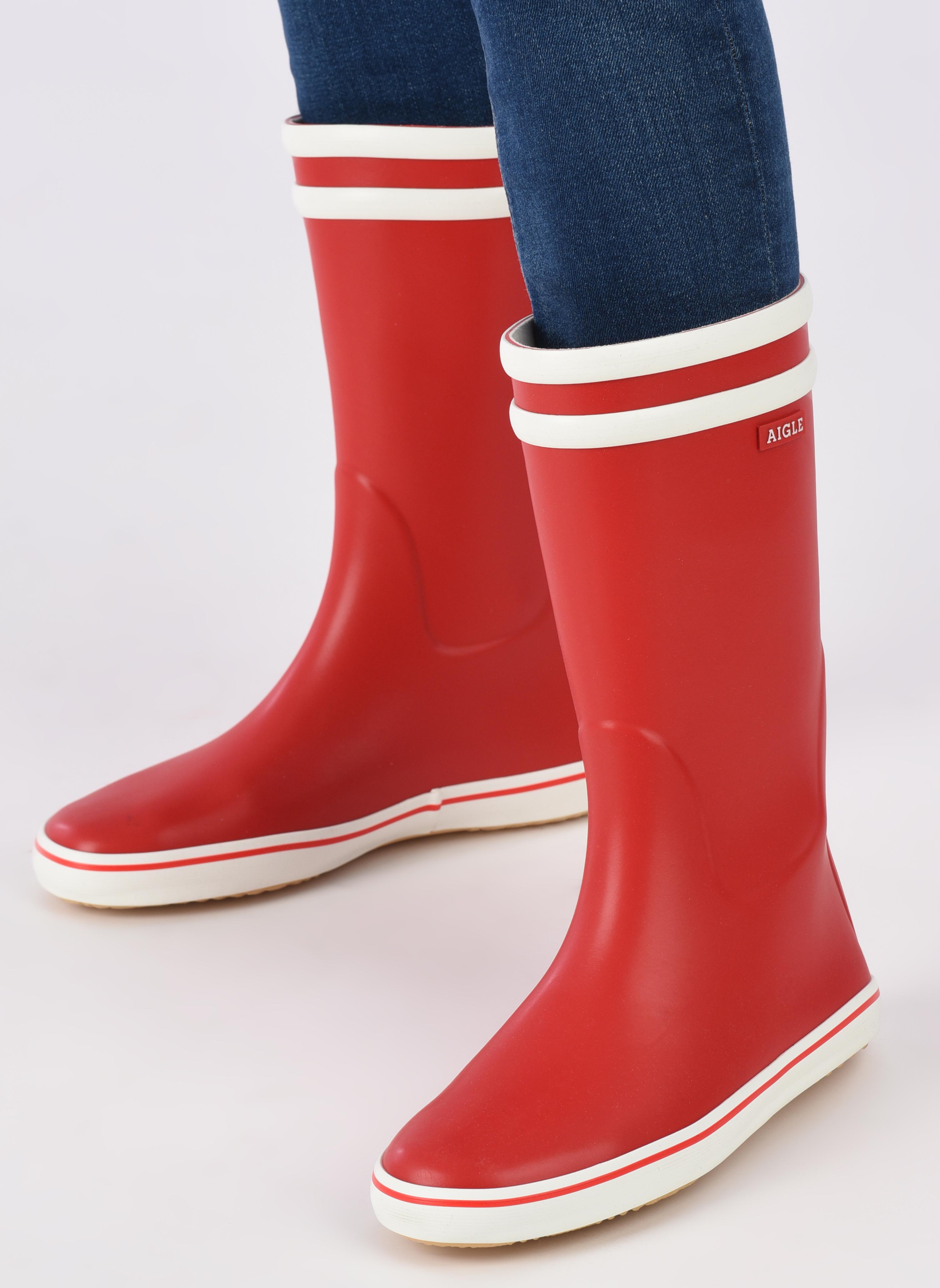 Bottines et boots Aigle Malouine BT Rouge vue bas / vue portée sac