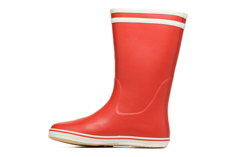 Bottines et boots Aigle Malouine BT Rouge vue face