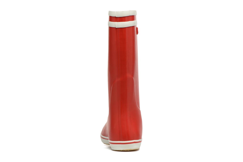 Bottines et boots Aigle Malouine BT Rouge vue droite