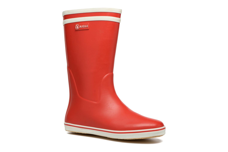 Bottines et boots Aigle Malouine BT Rouge vue détail/paire