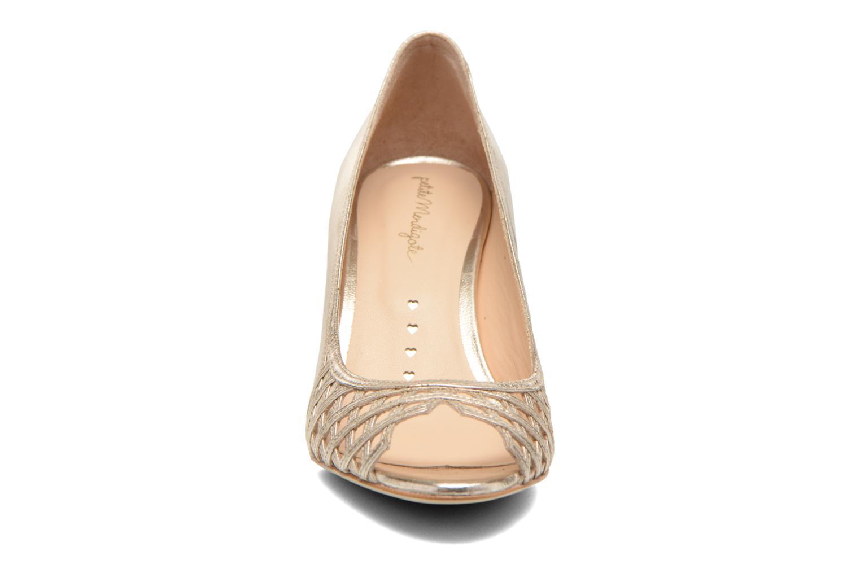 Escarpins Petite mendigote Trinité Or et bronze vue portées chaussures