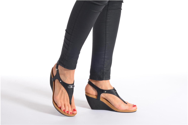 Sandales et nu-pieds Lauren by Ralph Lauren Ralla Noir vue bas / vue portée sac