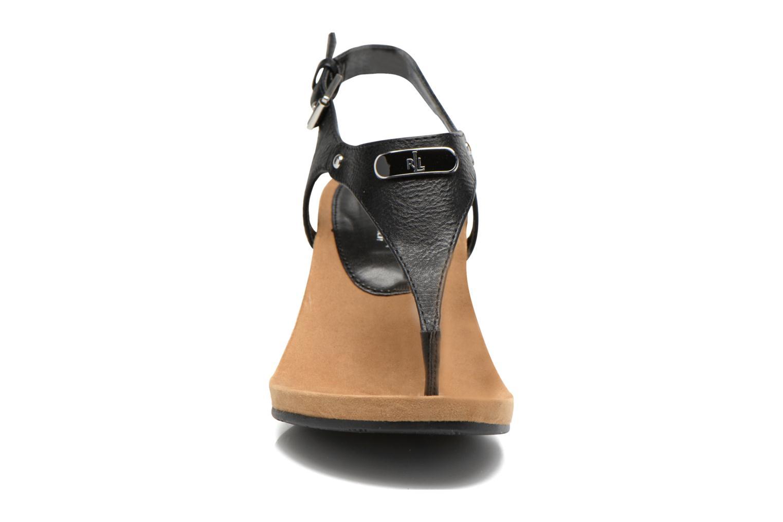 Sandales et nu-pieds Lauren by Ralph Lauren Ralla Noir vue portées chaussures