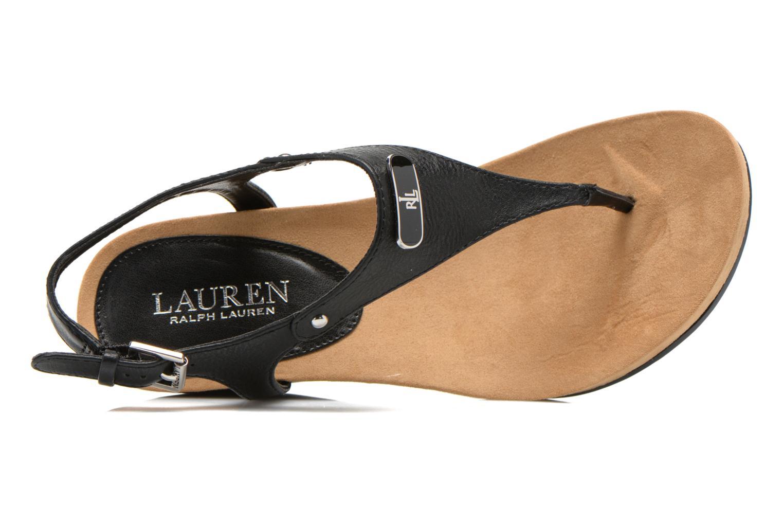 Sandales et nu-pieds Lauren by Ralph Lauren Ralla Noir vue gauche