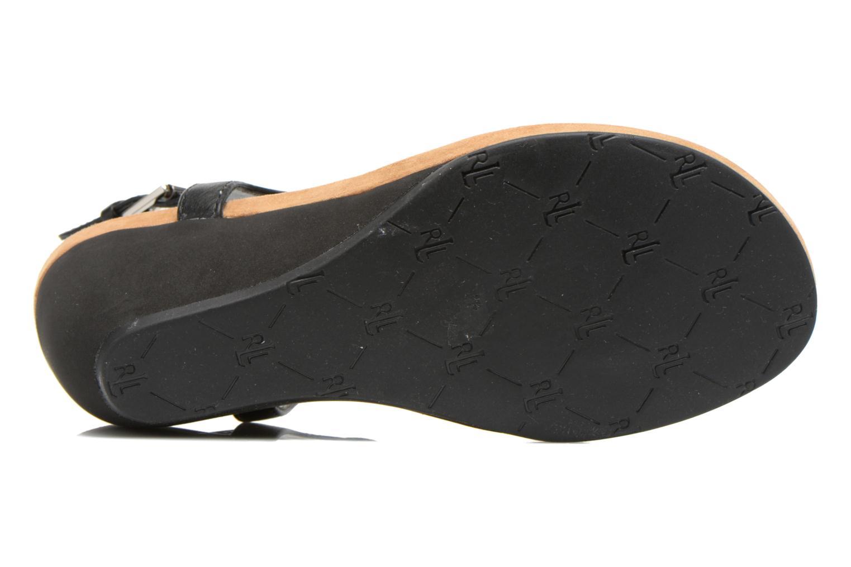 Sandales et nu-pieds Lauren by Ralph Lauren Ralla Noir vue haut
