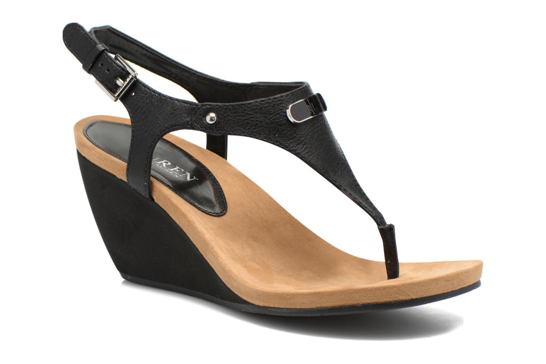 Sandales et nu-pieds Lauren by Ralph Lauren Ralla Noir vue détail/paire