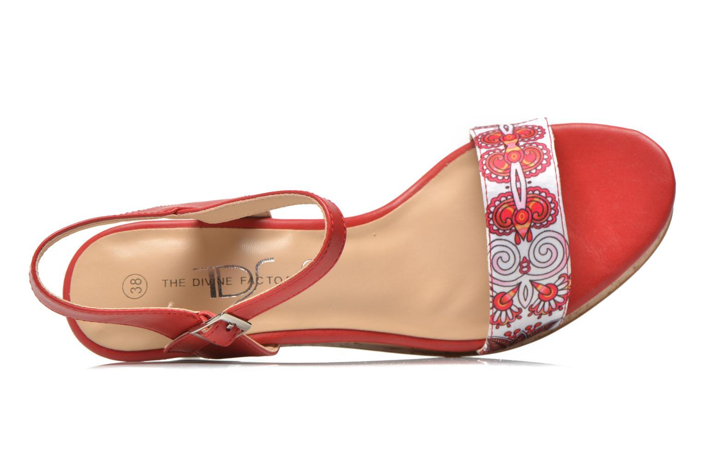 Sandales et nu-pieds Divine Factory Alexina Multicolore vue gauche