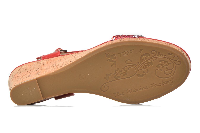 Sandales et nu-pieds Divine Factory Alexina Multicolore vue haut