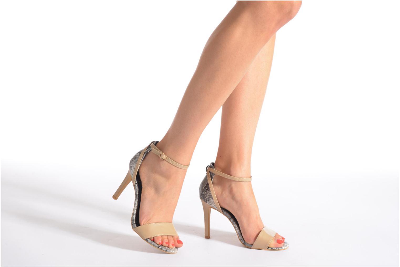 Sandales et nu-pieds Divine Factory Manon Multicolore vue bas / vue portée sac