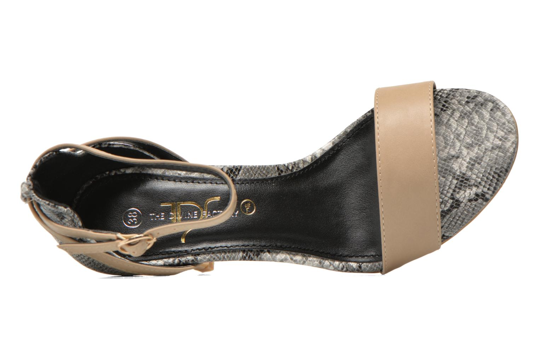 Sandales et nu-pieds Divine Factory Manon Multicolore vue gauche
