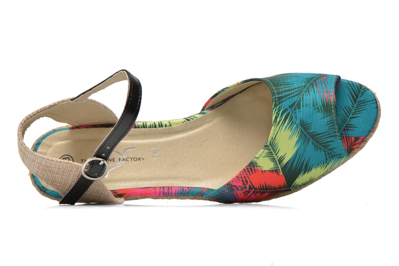 Sandales et nu-pieds Divine Factory Rosanna Multicolore vue gauche