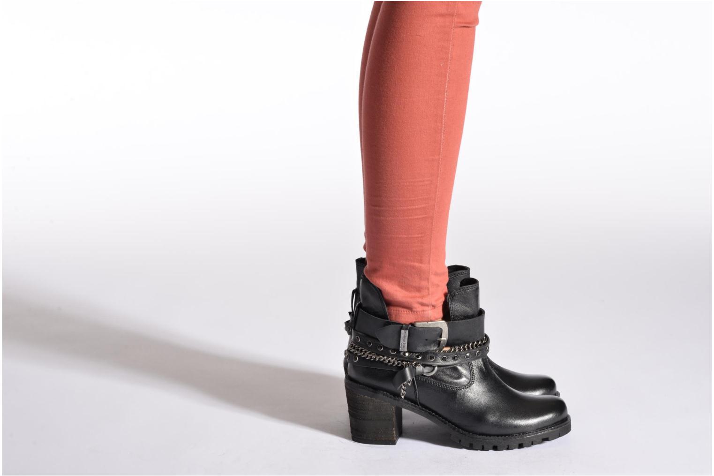 Bottines et boots Les Tropéziennes par M Belarbi Letos Noir vue bas / vue portée sac