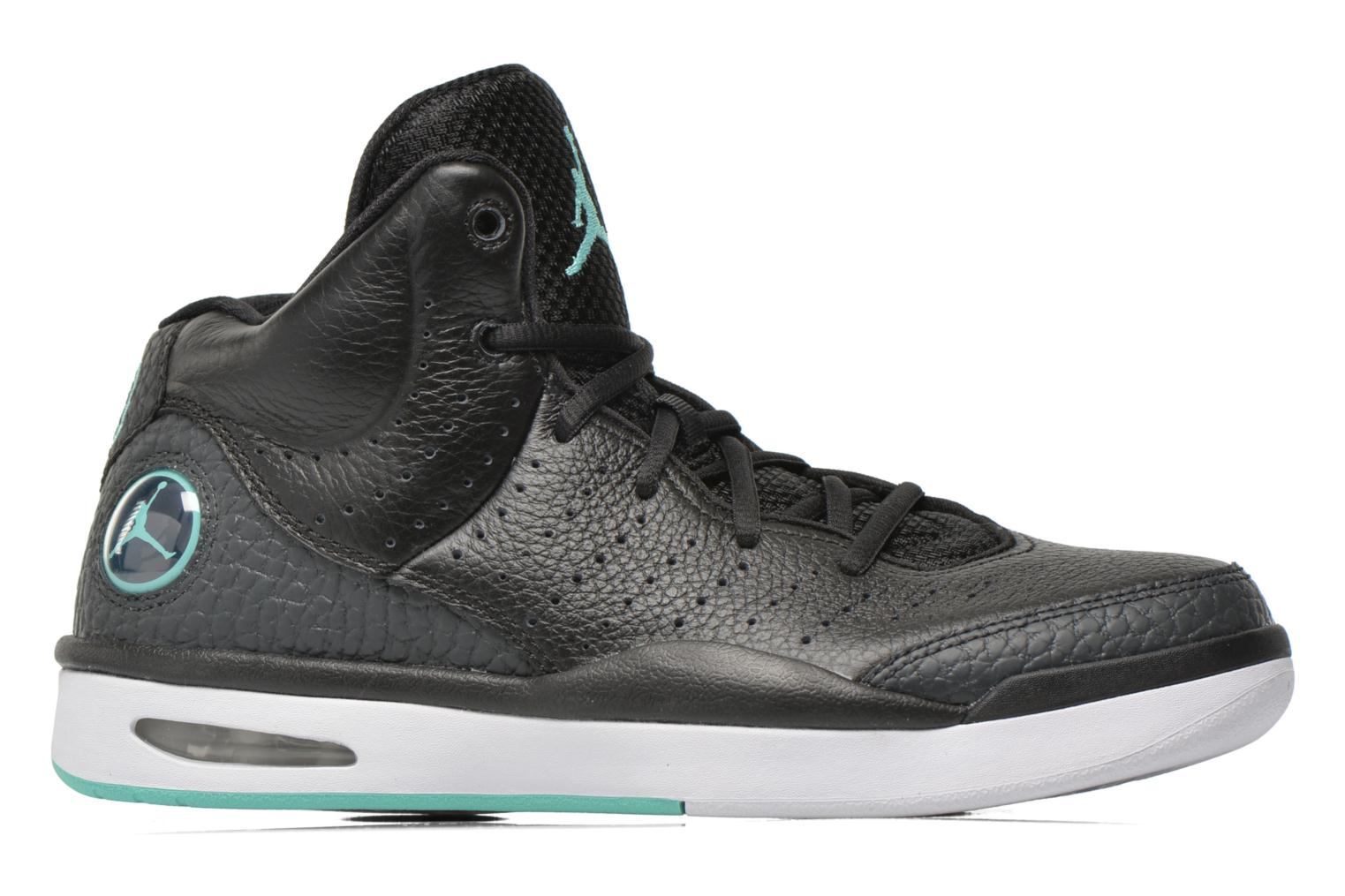 Jordan Flight Tradition Black/Hyper Turq-Anthrct-White
