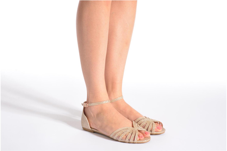Sandales et nu-pieds I Love Shoes Kivipa Or et bronze vue bas / vue portée sac