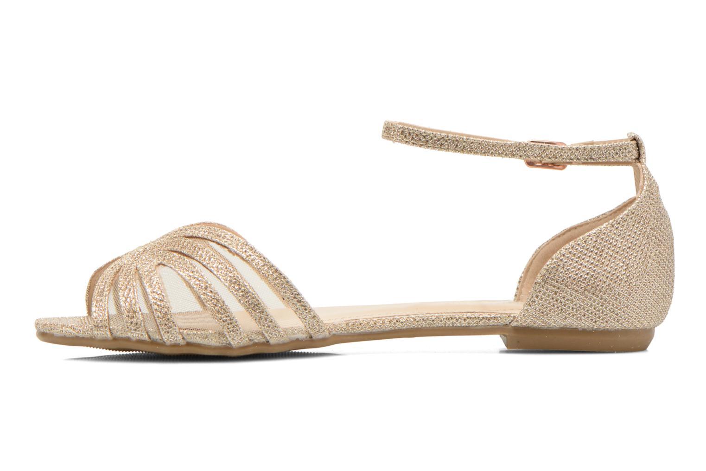 Sandales et nu-pieds I Love Shoes Kivipa Or et bronze vue face