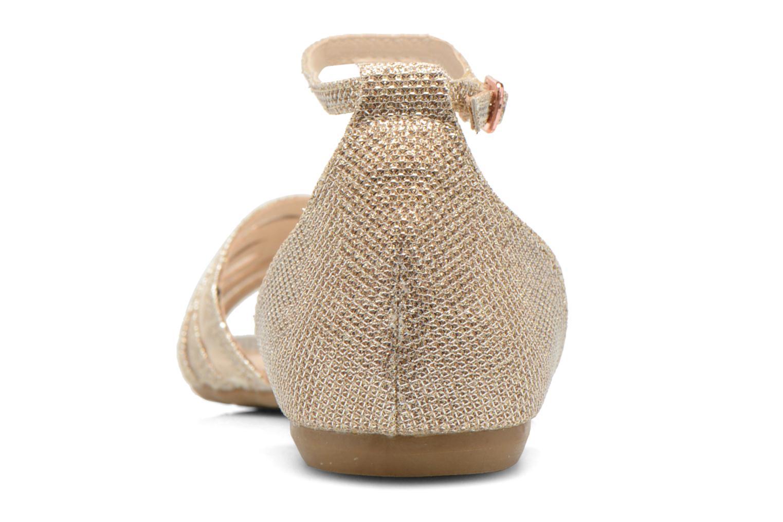 Sandales et nu-pieds I Love Shoes Kivipa Or et bronze vue droite