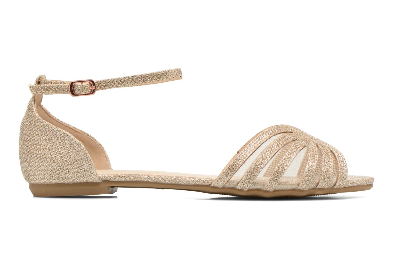 Sandals I Love Shoes Kivipa Bronze and Gold back view