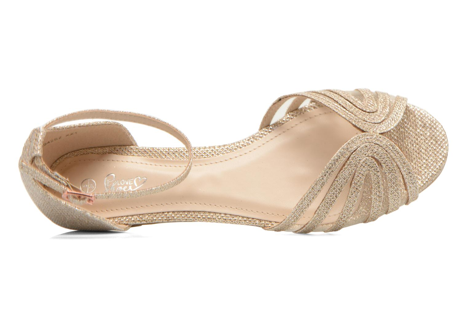 Sandals I Love Shoes Kivipa Bronze and Gold view from the left