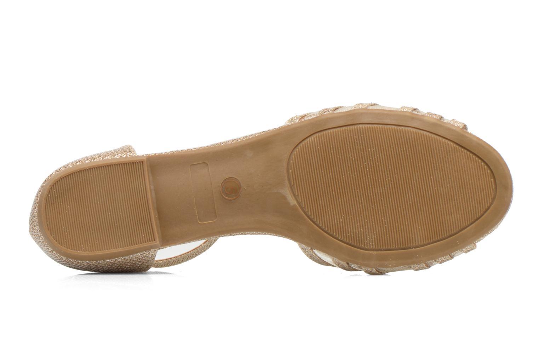 Sandales et nu-pieds I Love Shoes Kivipa Or et bronze vue haut
