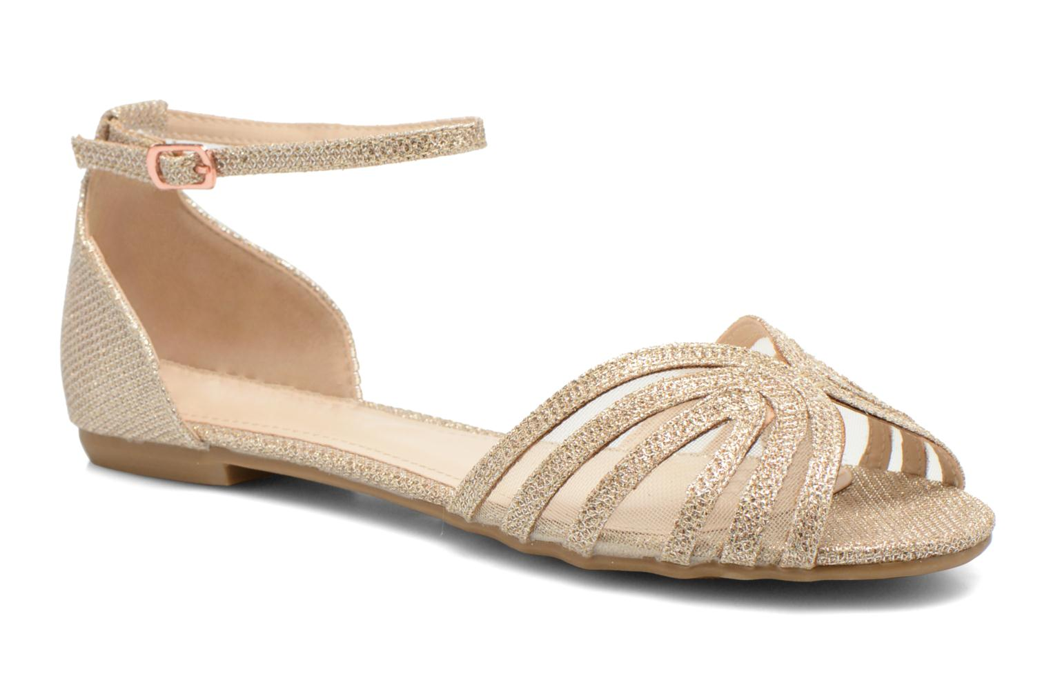 Sandals I Love Shoes Kivipa Bronze and Gold detailed view/ Pair view