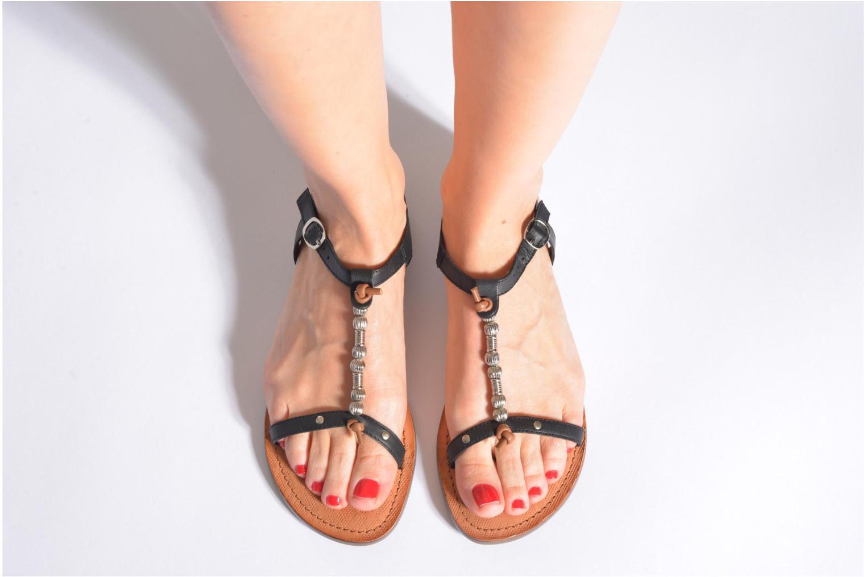 Sandales et nu-pieds Tamaris Famala Argent vue bas / vue portée sac