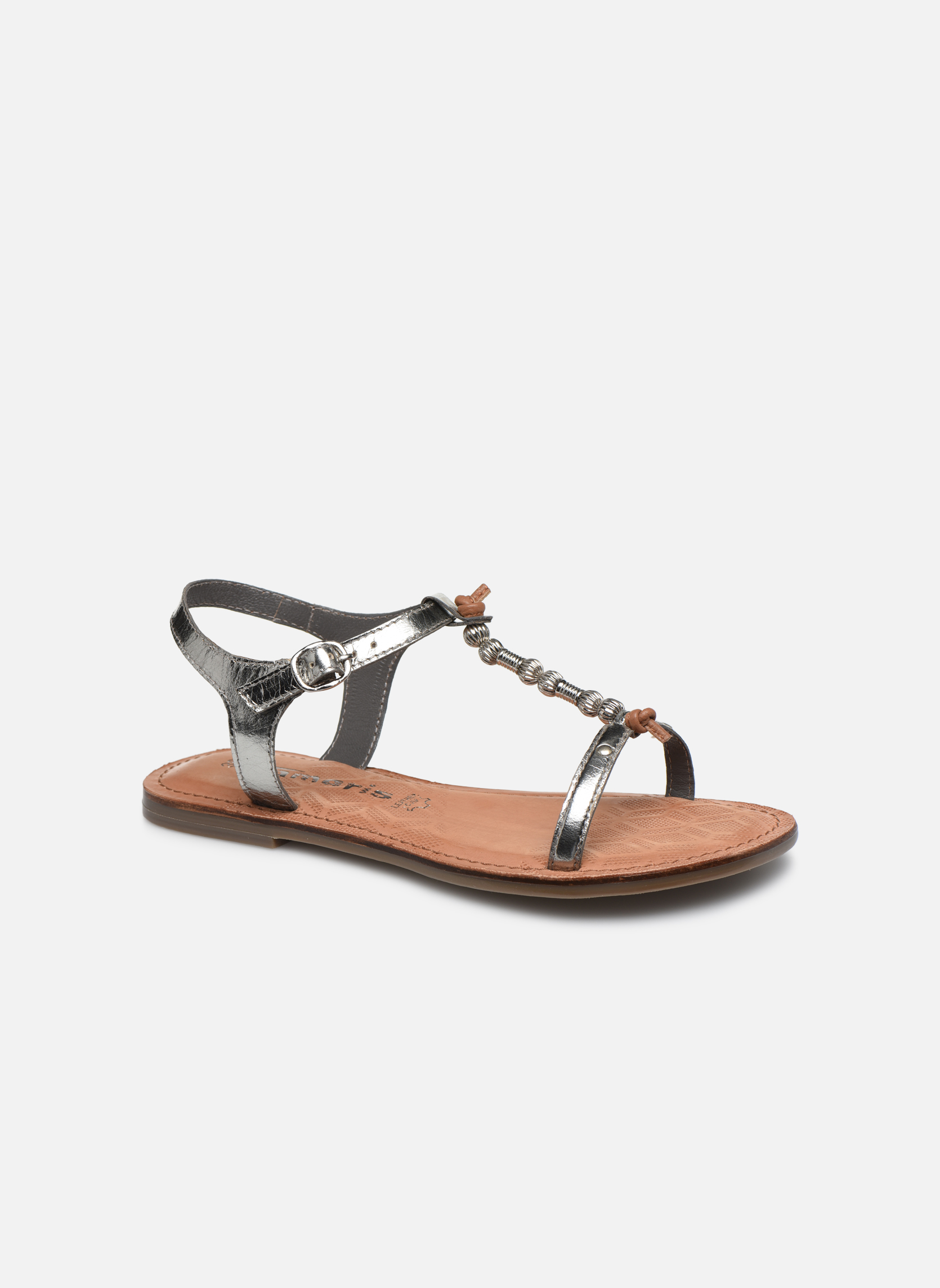 Sandales et nu-pieds Tamaris Famala Argent vue détail/paire