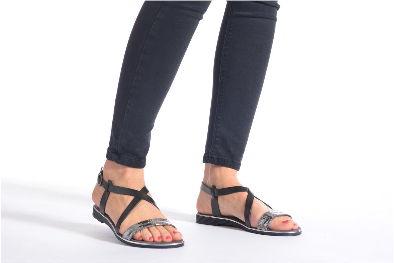 Sandales et nu-pieds Tamaris Lucinda Noir vue bas / vue portée sac