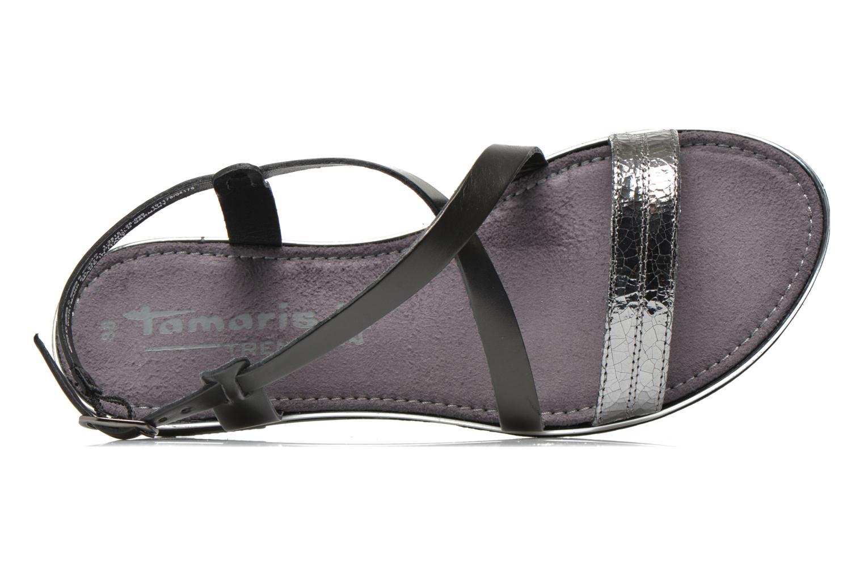 Sandales et nu-pieds Tamaris Lucinda Noir vue gauche