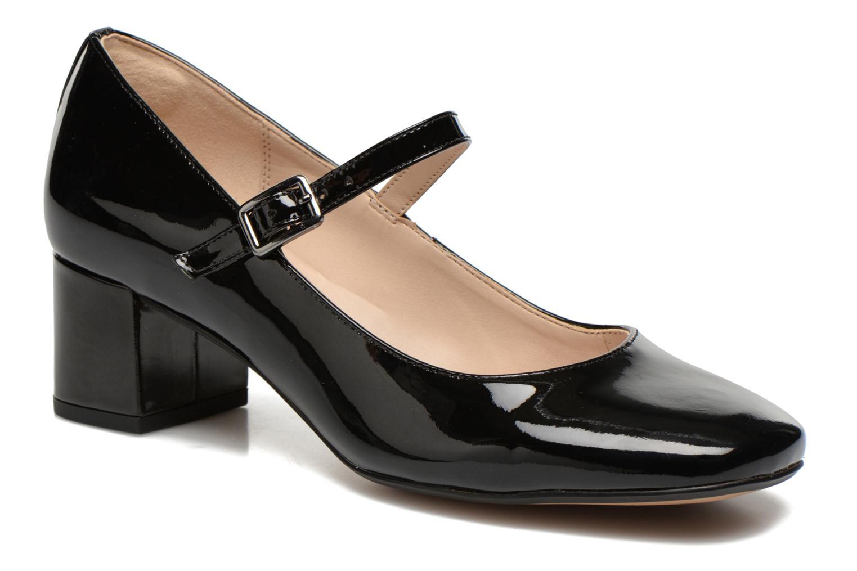Høje hæle Clarks Chinaberry Pop Sort detaljeret billede af skoene